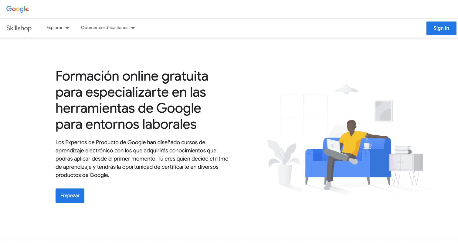 aprende desde casa con la plataforma gratuita de google
