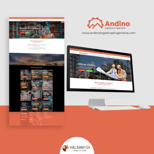 andino logistica e ingenieria diseño de pagina web