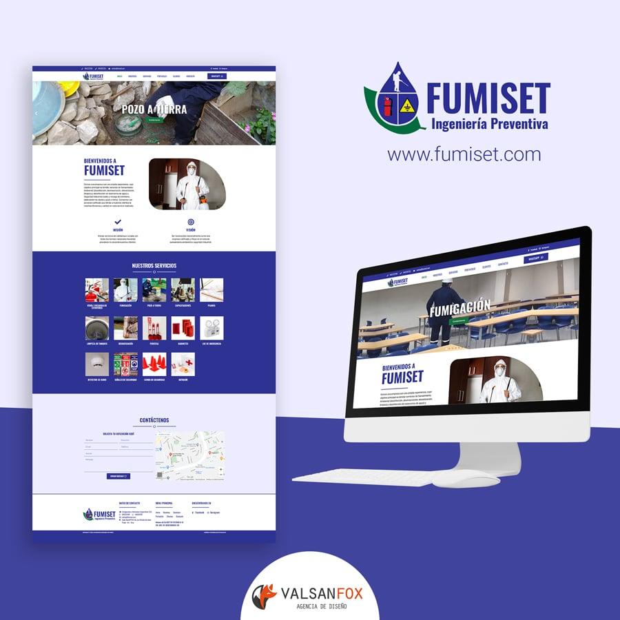 Diseño de Página Web Fumiset