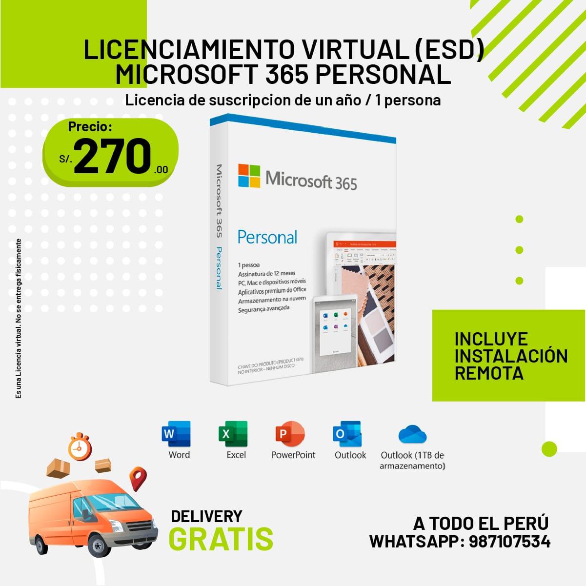Licenciamiento Virtual Microsoft 365 Personal