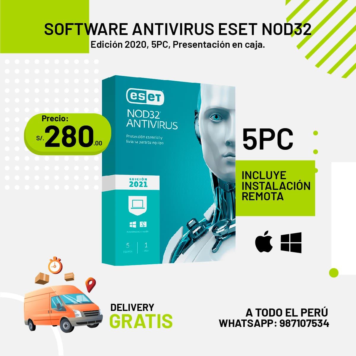 Software Antivirus ESET NOD 32 - licencia 5PC